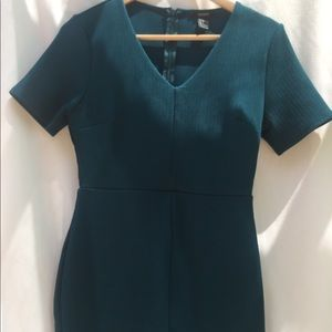 Forever 21 Teal Fitted Mini Dress